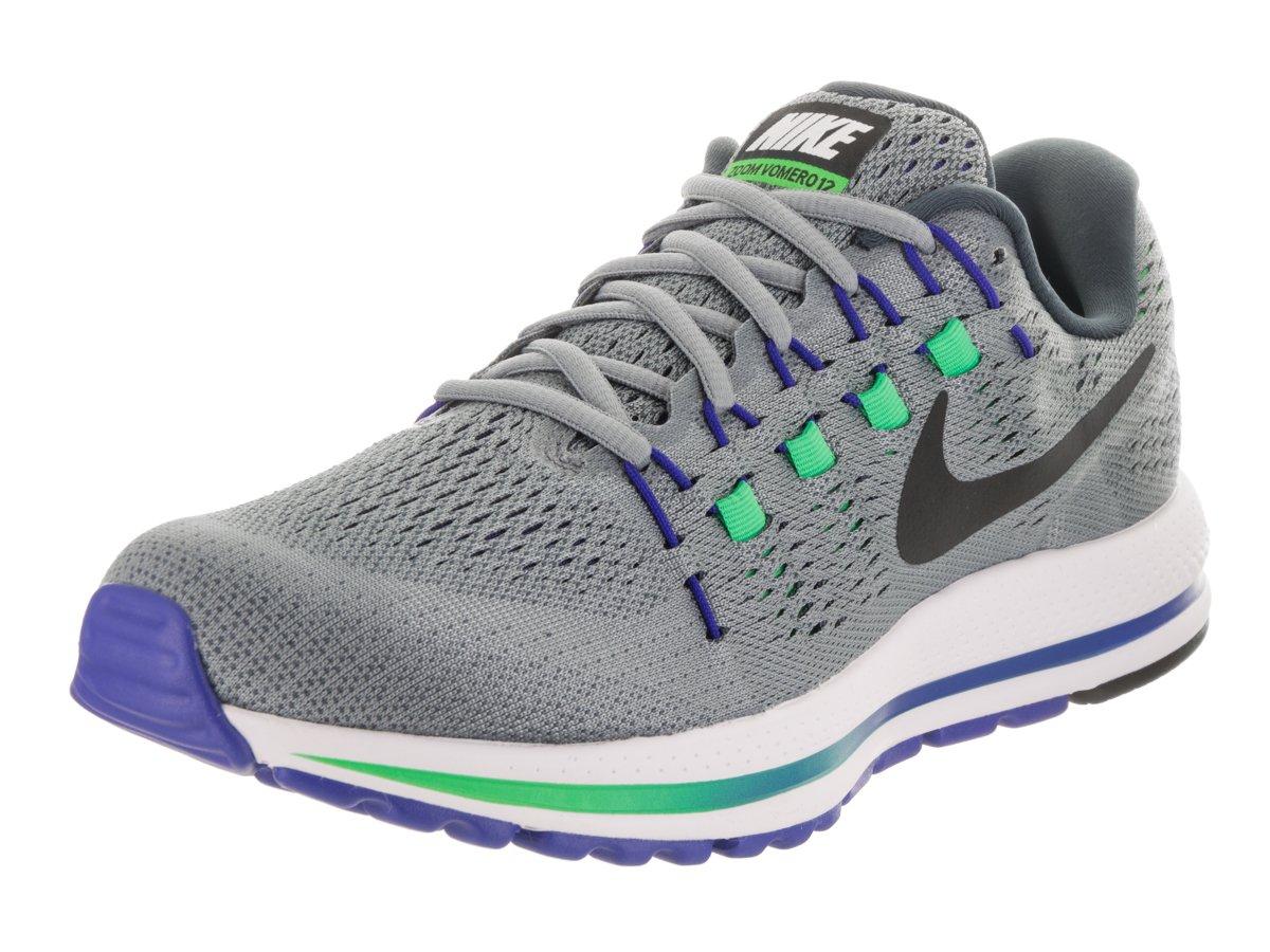 NIKE Men's Air Zoom Vomero 12 Running Shoe B06VV1D6XC 11.5 D(M) US|Stealth/Blue Fox/Electro Green