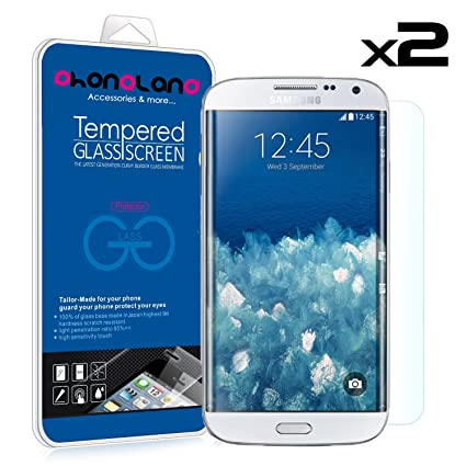PHONELAND Pack 2 Protector Pantalla de Cristal Templado Premium para Samsung Galaxy S5