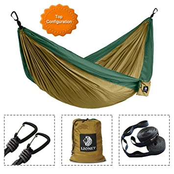 camping hammocklio  double parachute lightweight portable hammock for backpacking camping travel amazon    camping hammocklio  double parachute lightweight      rh   amazon