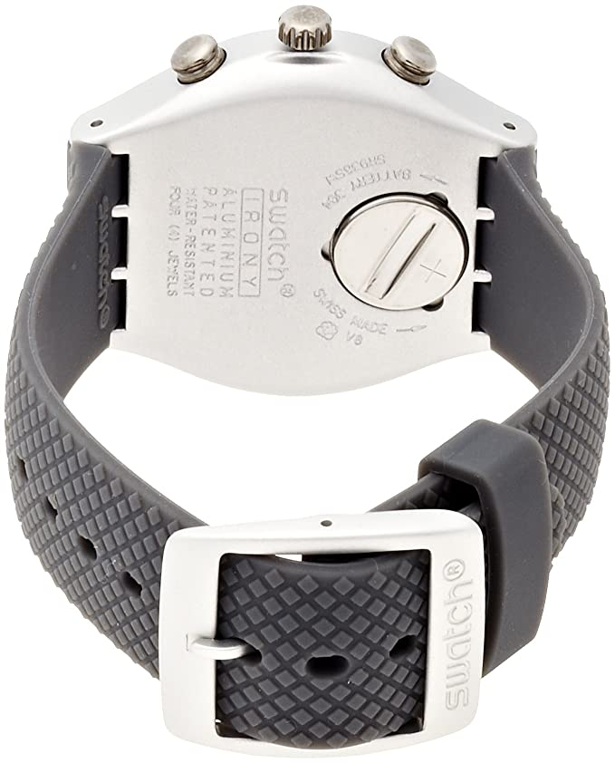 Amazon.com: Swatch Irony Comfort Zone Grey Dial Chronograph Silicone Mens Watch YCS4052: Swatch: Watches
