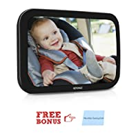 VETOMILE Baby Car Mirror 360° Adjustable Car Seat Mirror for Backseat Rear Facing View with Cleaning Cloth