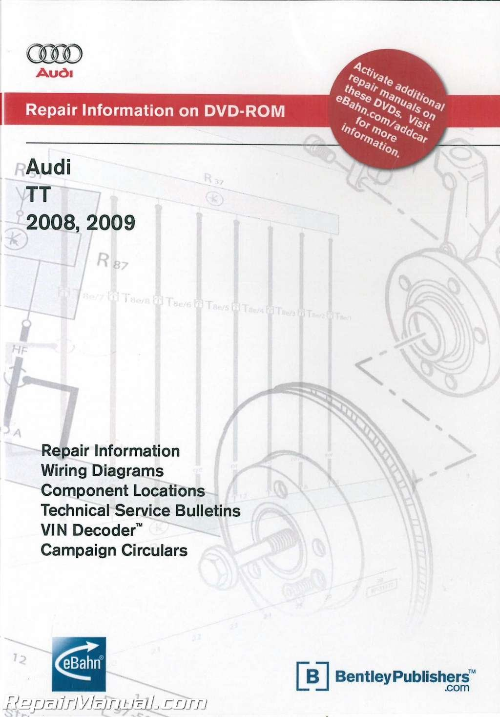 audi tt wiring diagram a8j7 2008 2009 audi tt repair manual dvd rom amazon com books  2008 2009 audi tt repair manual dvd rom