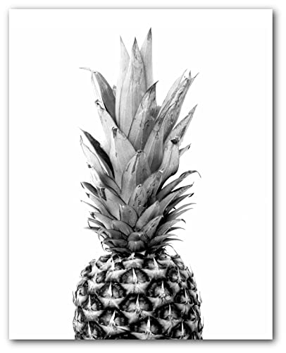 Pineapple print tropical summer art 8 x 10 inches unframed