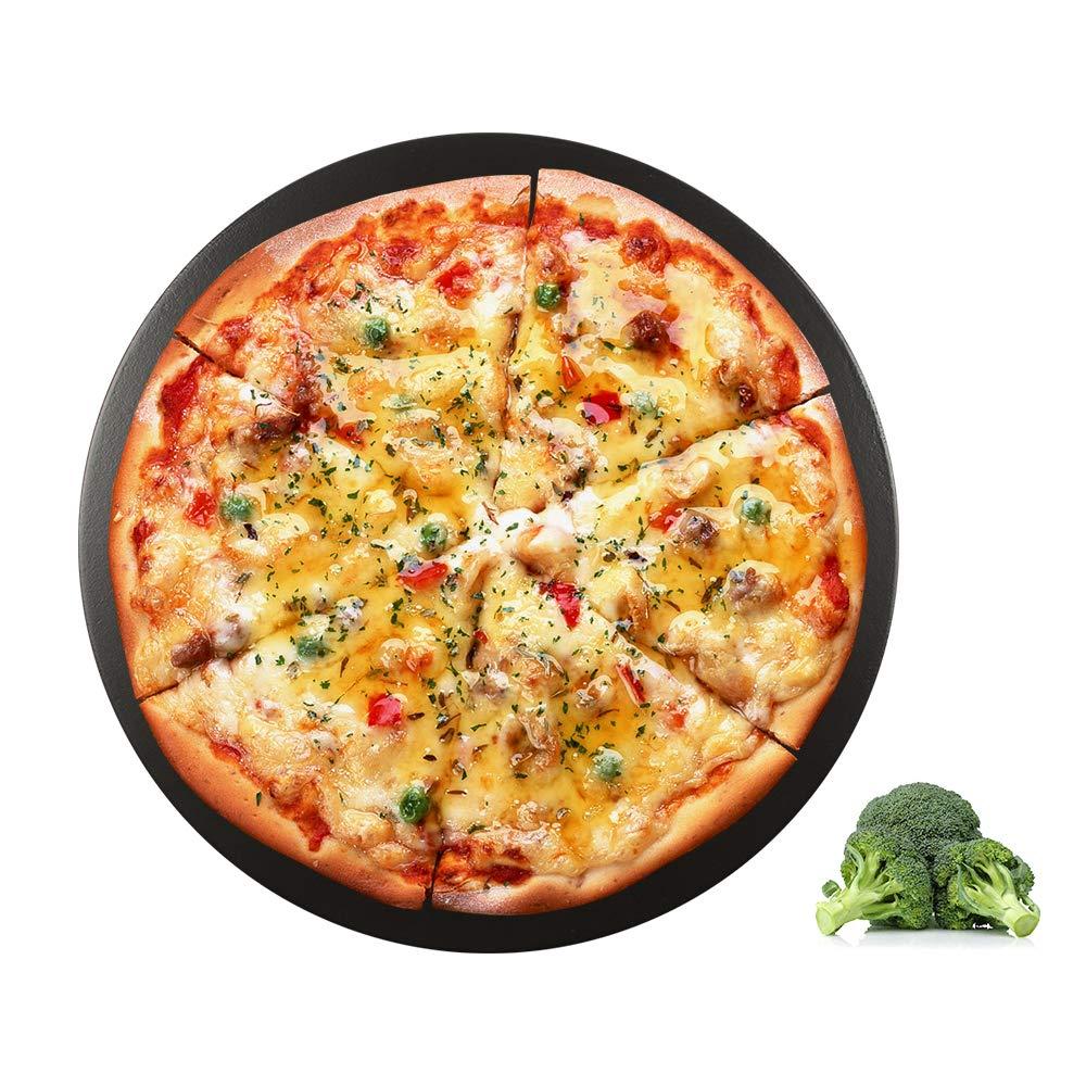 Dracarys 15'' Pizza Stone Round Ceramic Glazed Cordierite Pizza Stone Baking/Pizza Stone - for Big Green Egg Grill kamado Joe,pitboss Grill,Vision Grill,Char-Griller 16620 Akorn Kamado Cooker