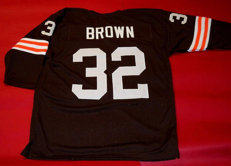 Amazon.com: JIM BROWN BROWN CLEVELAND 3/4 SLEEVE THROWBACK CUSTOM ...