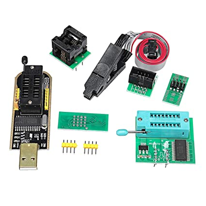 MYAMIA Eeprom Bios Usb Programmer Ch341A + Soic8 Clip + 1 8V Adapter +  Soic8 Adapter For 24 25 Series Flash