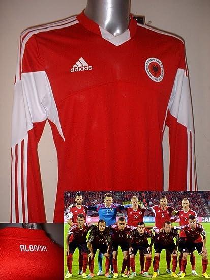 adidas Albania Adulto Grande – Nuevo Camiseta de fútbol Camiseta de Maglia Top