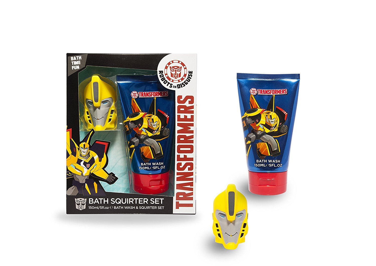 Transformers Body Wash Bath Set with Bumblebee Squirter SnS