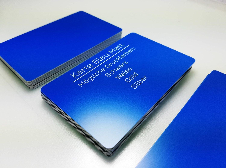 50 Plastikkarten HELLBLAUPremium Qualität aus DeutschlandNEU!