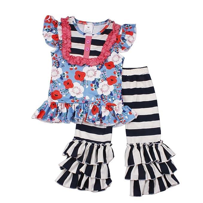 Amazon Com Baby Girls Short Set Summer Cotton Printed Baseball