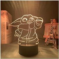 3d Lamp Star Wars Baby Yoda Figuur Nachtlampje Voor Thuis Room Decor Kids Kind Verjaardagscadeau Acryl Rgb Led…