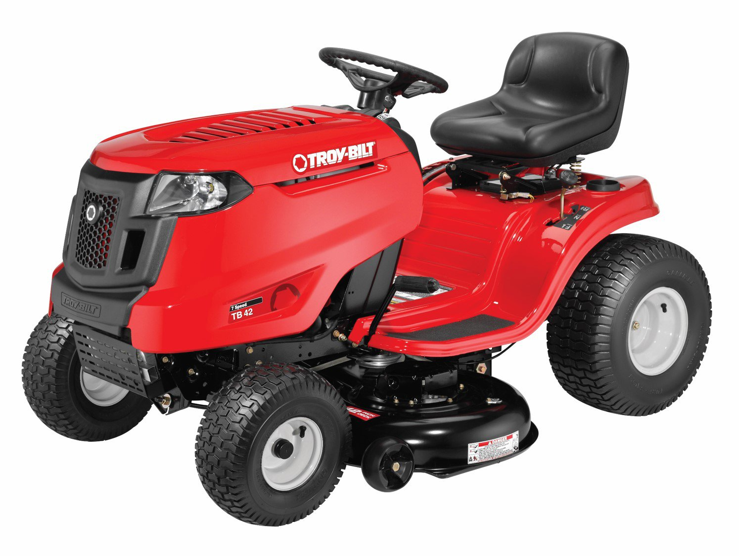 Troy-Bilt: Auto Drive 7-Speed Side Discharge Riding Lawn Tractor