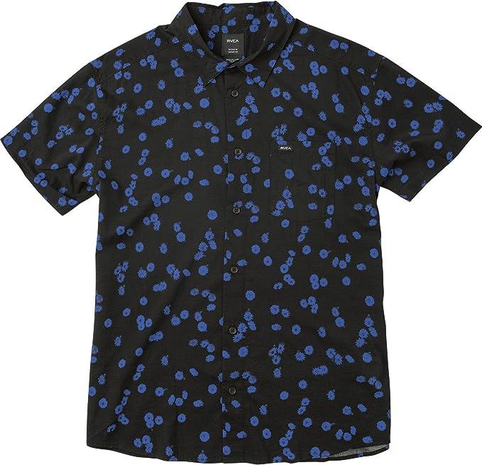 RVCA Niños B505NROD Manga Corta Camisa de Botones: Amazon.es: Ropa y accesorios