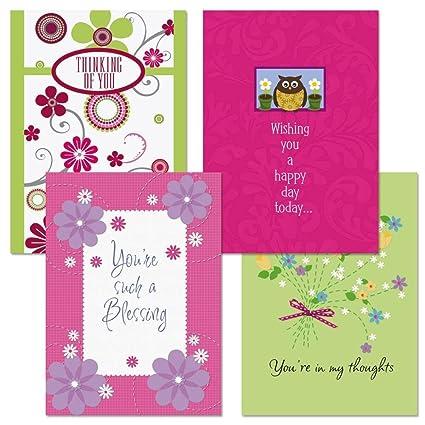 Amazon thinking of you greeting cards set of 8 cards 4 thinking of you greeting cards set of 8 cards 4 designs large 5 m4hsunfo