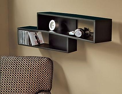 amazon com nexxt luca angled wall shelf 39 by 8 by 12 inch black rh amazon com angled wall shelf ikea angled slatwall shelves