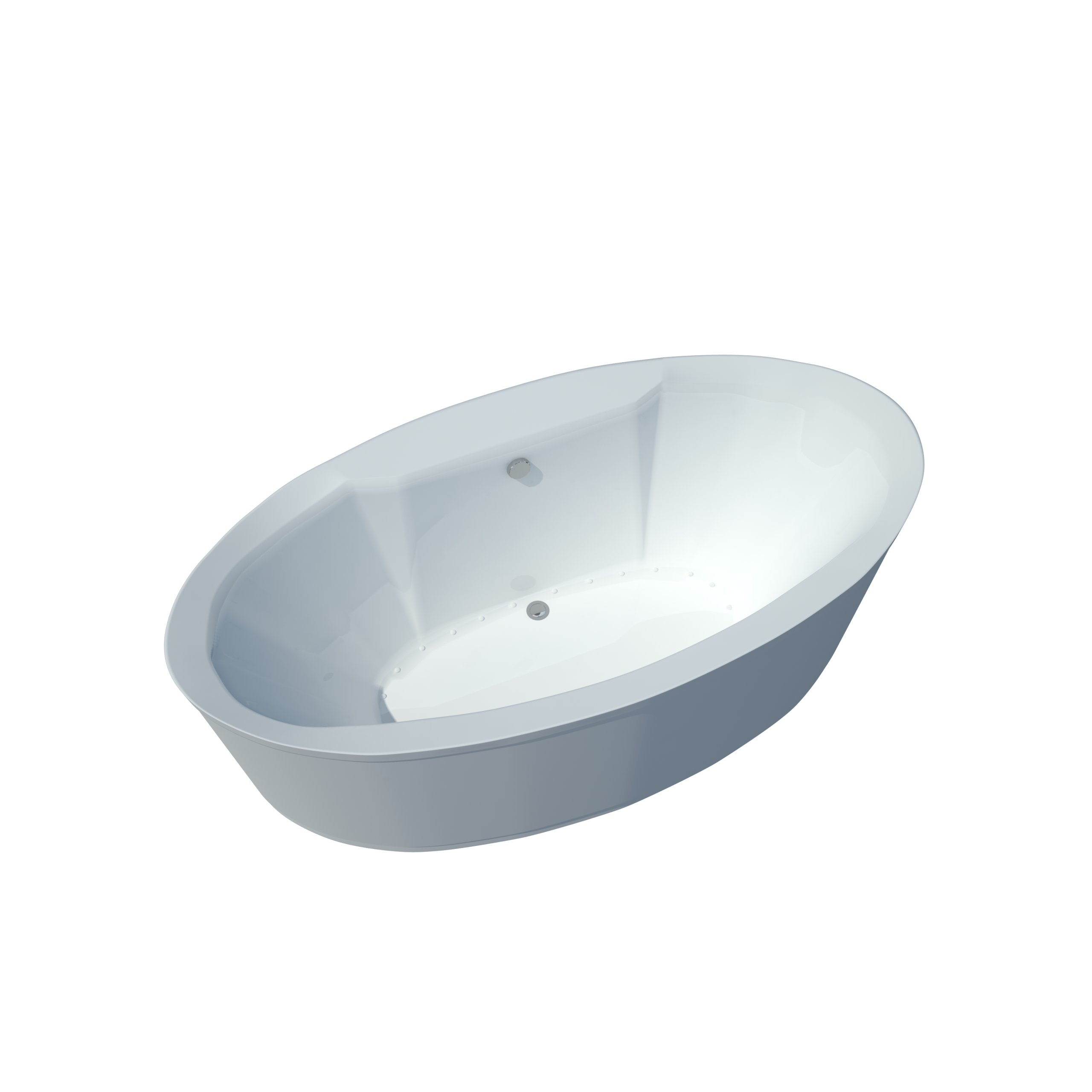 Atlantis Whirlpools 3468sa Suisse Oval Air Jetted Bathtub, 34 X 68, Center Drain, White