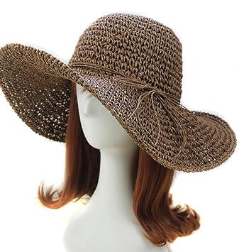 3acbf9f08a458 Idealgo Hot Sale Bohemia Fashion Korean Floppy Summer Bow Women s Straw Sun  Hat Cap Roll-