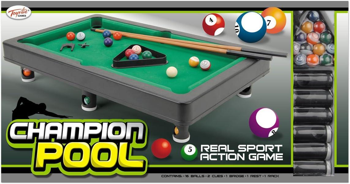 Toyrific - Mini Mesa de Billar (Wilton Bradley) [Importado de Inglaterra]: Toyrific Champion Pool: Amazon.es: Juguetes y juegos