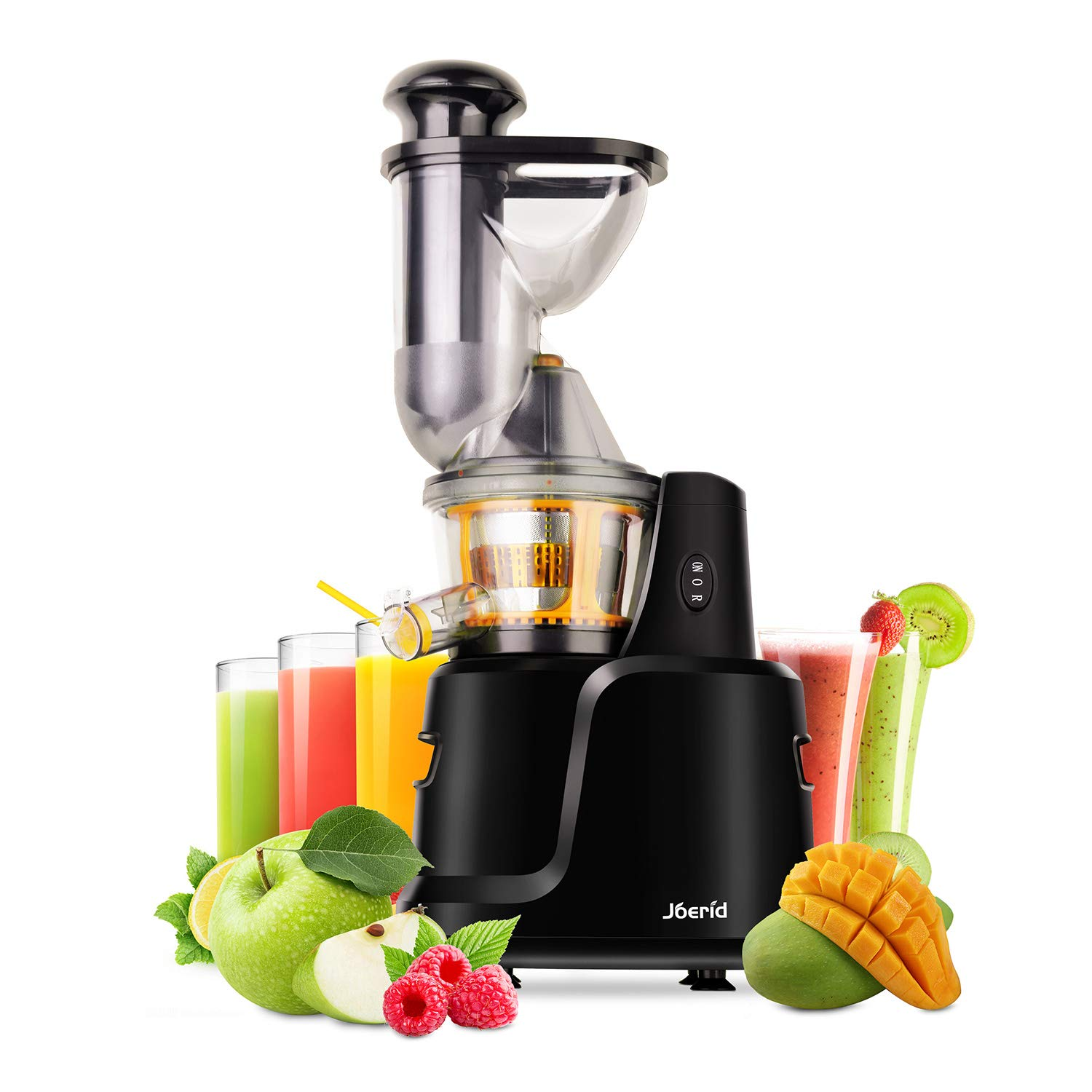 Juicer Machines,Slow Masticating Juicer Extractor Compact Cold Press Juicer Machine Wide Chute Cold Press Juicer by Joerid