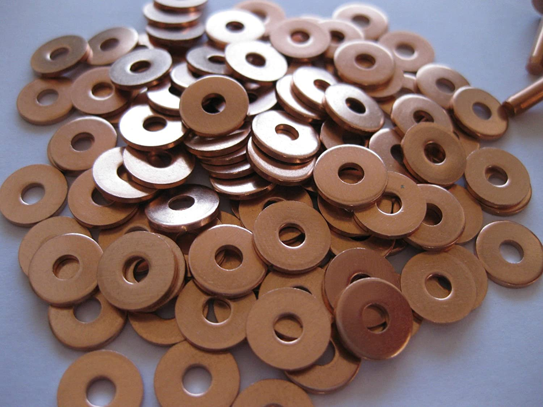 3//4 Remaches y arandelas de cobre calibre 8 4,1 mm x 19 mm