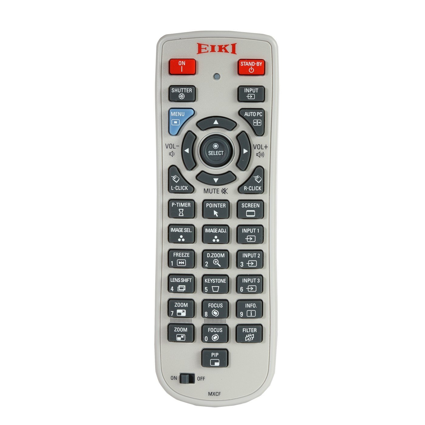 Eiki 645 103 8463 | Infrared Wired Projector Remote for LC-WUL100A/L LC-WUL100/L LC-WXL200A/L LC-XL100A/L LC-XL200A/L by Eiki