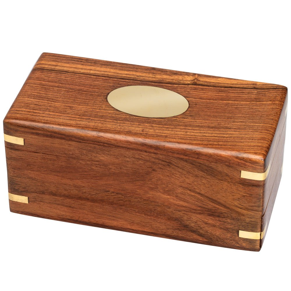 Bits and Pieces - The Secret Enigma Gift Box - Wooden Brainteaser Puzzle Box - Hidden Compartment Drawer by Bits and Pieces