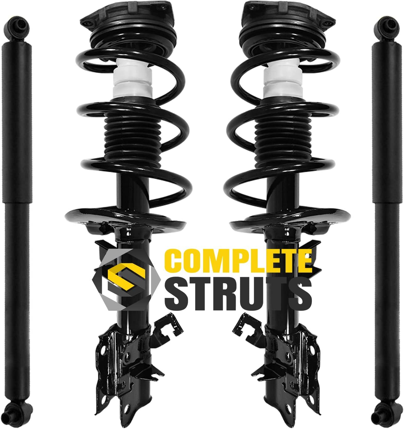 Set of 4 Front Quick Complete Strut Assemblies /& Rear Bare Shock Absorbers Compatible with 2008-2012 Nissan Rogue