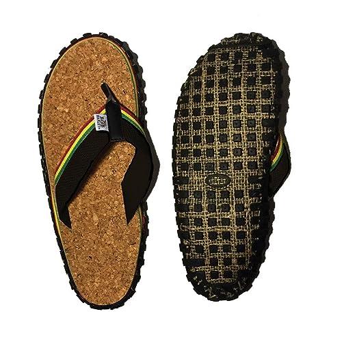 62a0a379519 Bob Marley Official Men s Cork Flip Flops Sandals Rasta Print ...