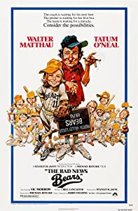 Posterazzi The Bad News Bears Us Left: Tatum O'Neal Walter Matthau 1976 Movie Masterprint Poster Print, (11 x 17)