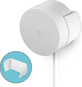 Screwless Wall & Ceiling Mount for Google WiFi Home Mesh System Holder, No Tools Required, Easy to Install, No Mess, No Drilling, Strong VHB Adheasive Mount, White by Brainwavz