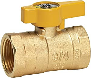 Homewerks VGV-2LH-B4CB Gas Ball Valve x Female Thread, Brass, 3/4-Inch, 0.75-Inch