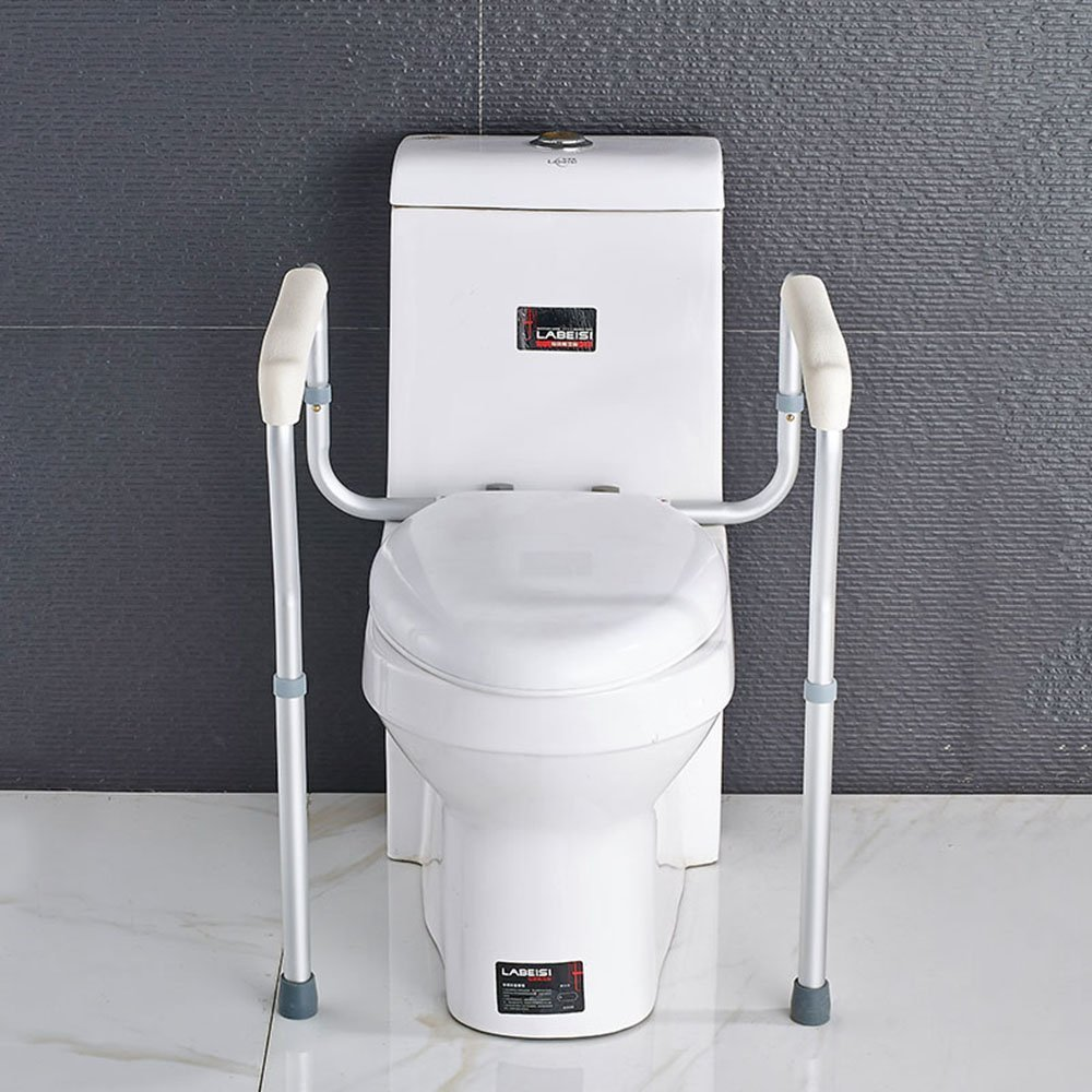 YAOHAOHAO Aluminum Alloy Toilet Armrest Safety Non-slip Be Applicable Old Man Pregnant Women