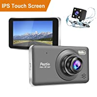 Deals on Peztio Dual Front and Rear 1080p HD Car DVR Dashboard Camera