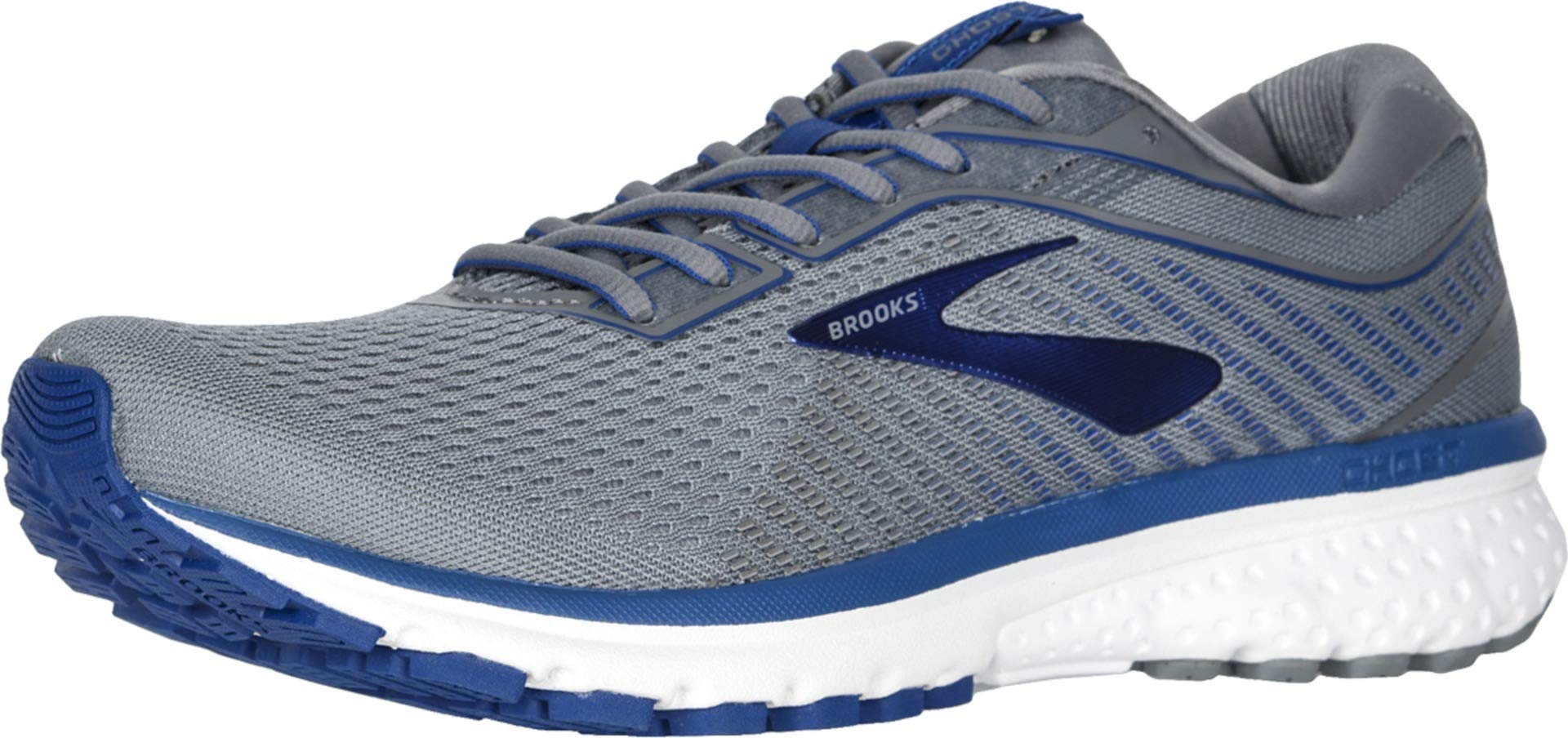 Brooks Ghost 12 Grey/Alloy/Blue 11 by Brooks