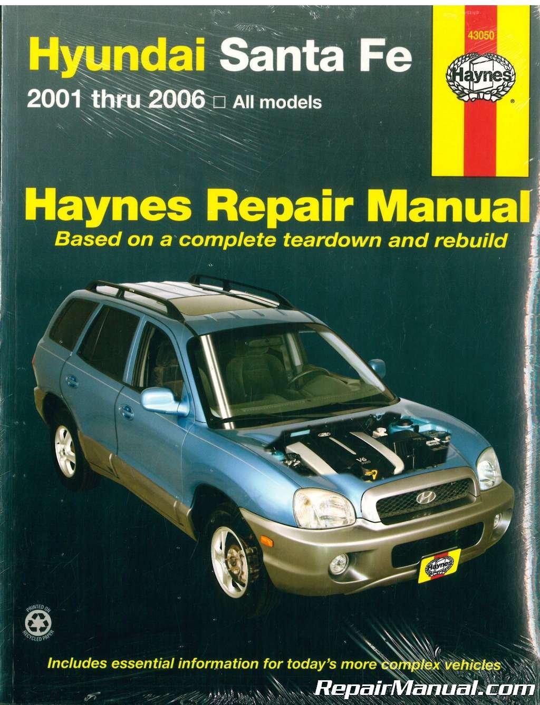 NOSH43050 Haynes Hyundai Santa Fe 2001-2009 Auto Repair Manual: Amazon.com:  Books