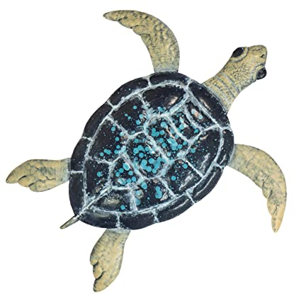 475ff7b24c Turtle Metal Wall Décor or Table Decoration - 3D Design - Hand-Painted - 19