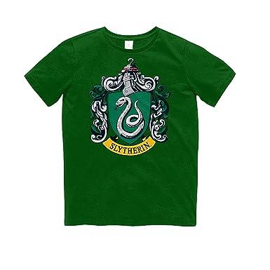 Harry Potter Kinder T Shirt Mit Slytherin Logo 116 Grün Amazon