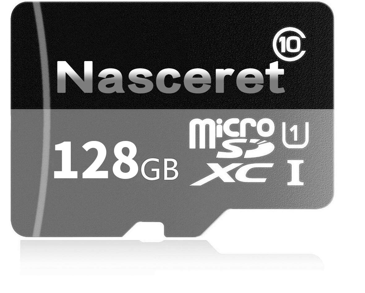 Nasceret Micro SD SDXC Card 128GB High Speed Class 10 Memory Card Micro SD Adapter