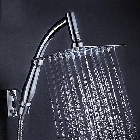 8 Inch Rainfall Shower Head High Pressure Saving Water Swivel Joint Square  Sprayer With Bracket Holder