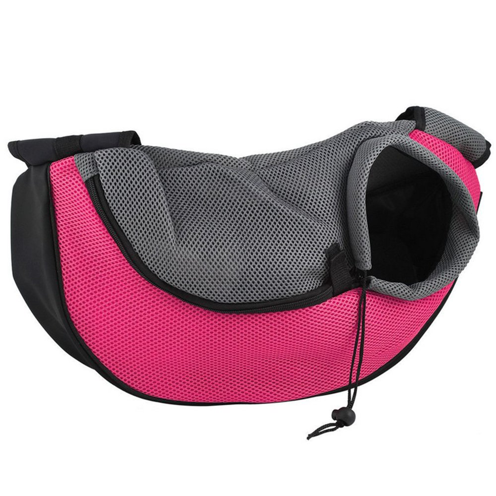 BreaDeep Portable Pet Dog Cat Puppy Carrier Outdoor Shoulder Bag Breathable Mesh Travel Tote Sling Backpack -Small Size (Red & Black)