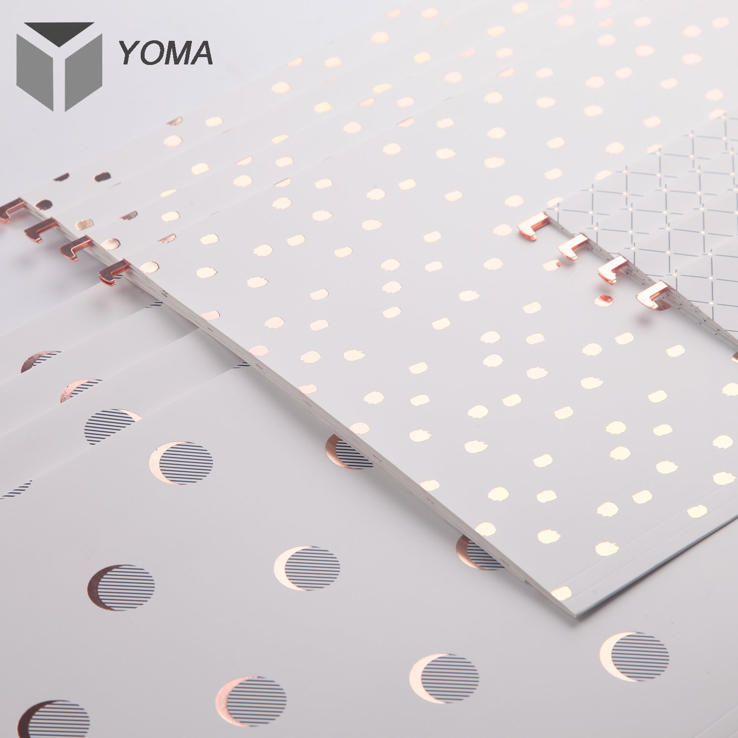 Yoma Rose Gold Foil Hanging File Folders, Reinforced 1/5 Cut Tab, Letter Size, 12 Per Box Color by Yoma