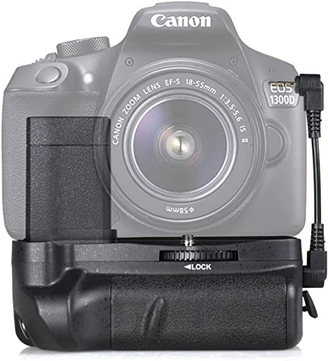 SAMTIAN BG-1H Grip de la batería para Canon 1100D/1200D/1300D/EOS ...