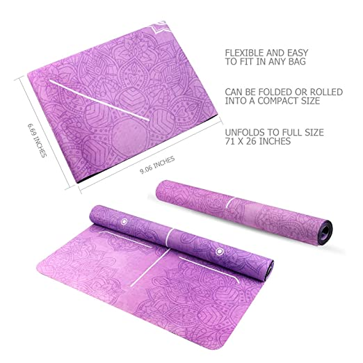 Amazon.com : Yoga Mat Foldable 1/16 Inch Thick Non-Slip ...