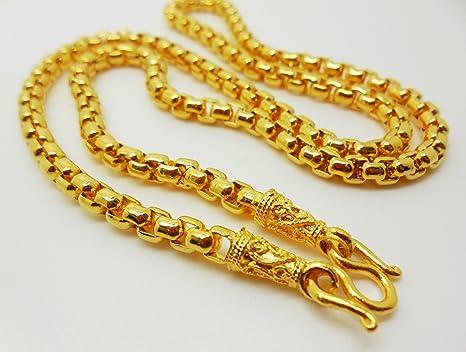 Amazoncom Chain 22k 23k 24k Thai Baht Yellow Gold GP Necklace 18