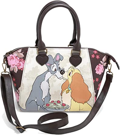 Amazon Com Loungefly Disney Lady The Tramp Floral Satchel Bag Clothing