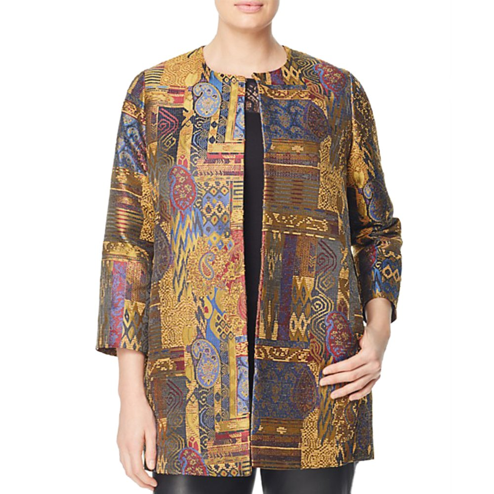 Marina Rinaldi Women's Nave Embroidered Shortcoat, Multicolor, 20W/29