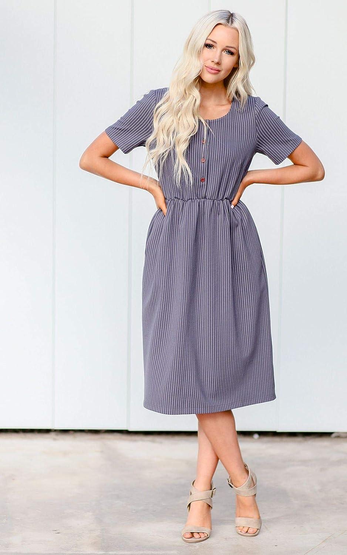 5ad3de0c65362 Mikarose Raelyn Modest Dress or Modest Nursing Dress at Amazon Women's  Clothing store: