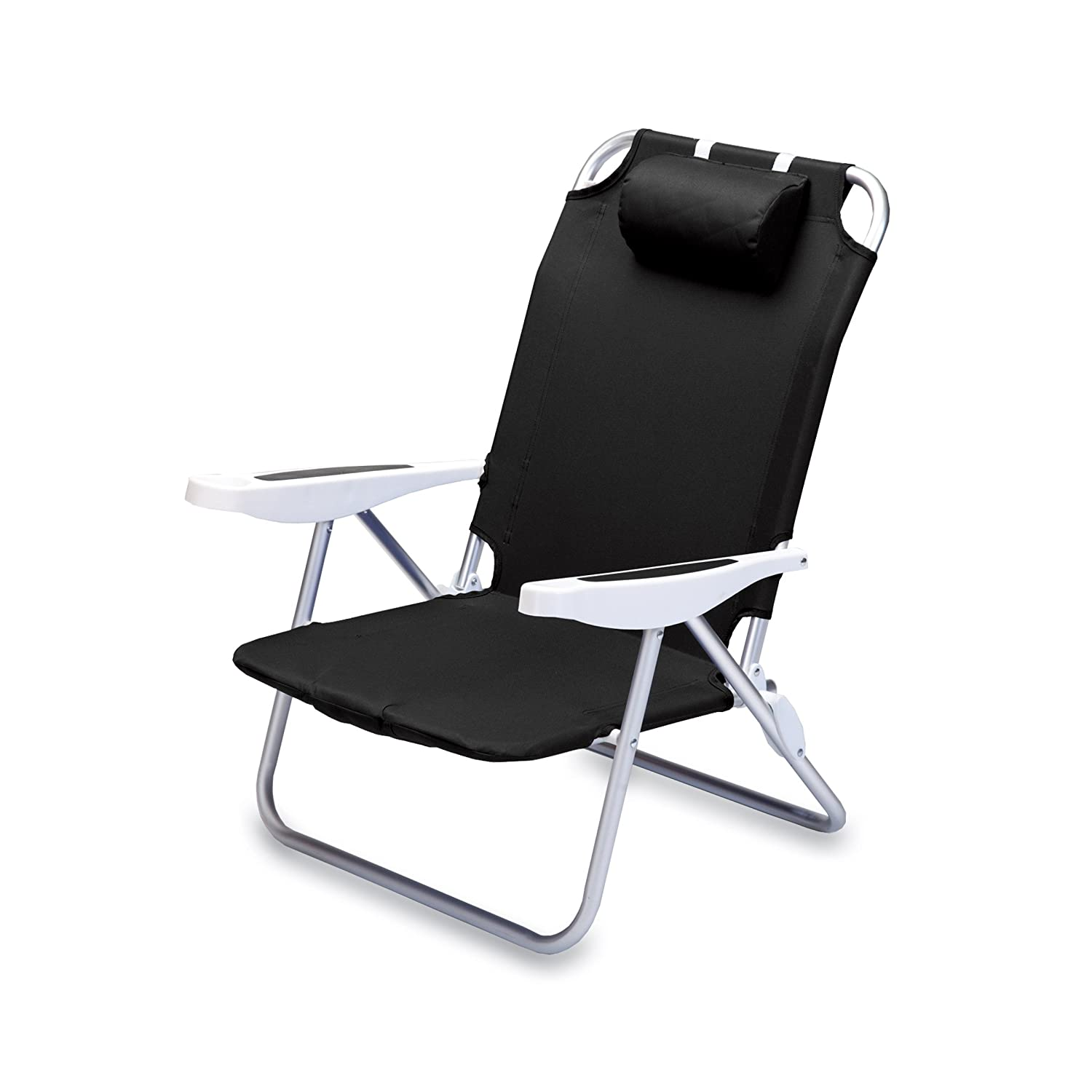 Amazon Picnic Time Monaco Folding Beach Chair Black