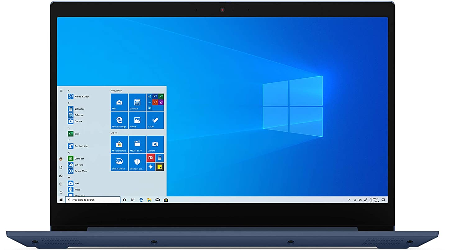 "2020 Newest Lenovo IdeaPad 3 15"" Laptop, AMD Ryzen 5 3500U Quad-Core Processor, 8GB Memory, 256GB Solid State Drive, Windows 10, Abyss Blue, 81W1009DUS (Google Classroom Compatible)"