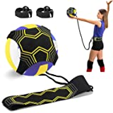 Volleyball Training Equipment Aid, Solo Soccer Trainer, Solo Practice Trainer for Serving, Setting, Spiking and Arm Swing, Re